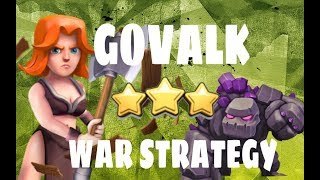 HOW TO LEARN GOVALK TH9   OP 3 STAR ATTACK STRATEGY   WAR ATTACKS   CLASH OF CLANS