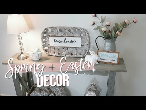SPRING + EASTER DECORATE WITH ME!! 2019