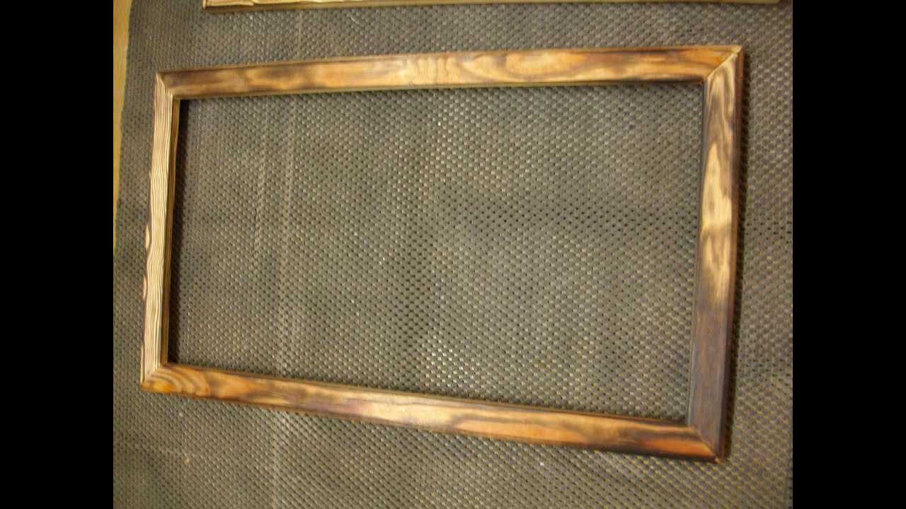 burned wooden frame - Wooden Picture Frames