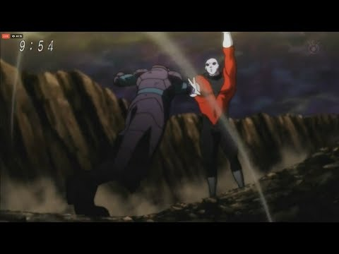 Hit vs Jiren STARTS ! Japanese, Hit steps in to fight Jiren to give Goku time to heal,DBS TV Special