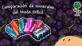 [Terraria 1.3.5] Comparación de los primeros minerales del Modo Difícil y sus contrapartes