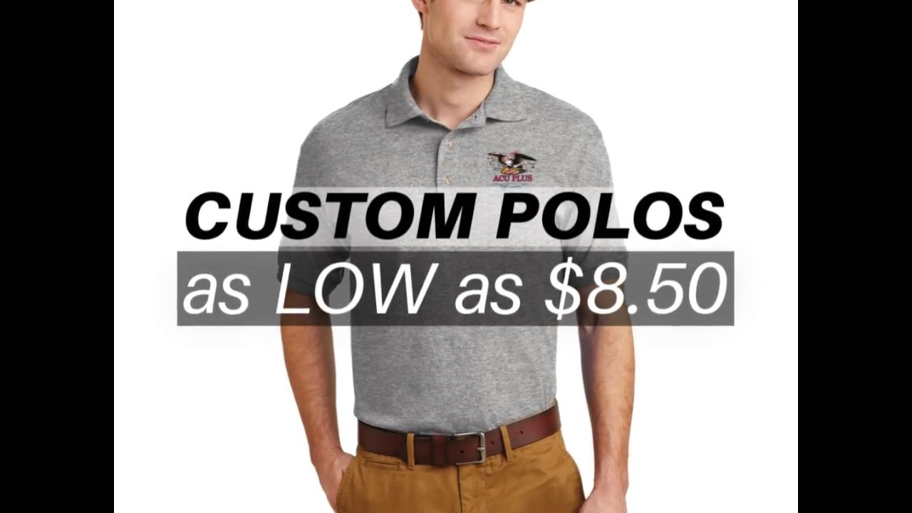Custom Embroidered Polo Shirts Acu Plus Youtube