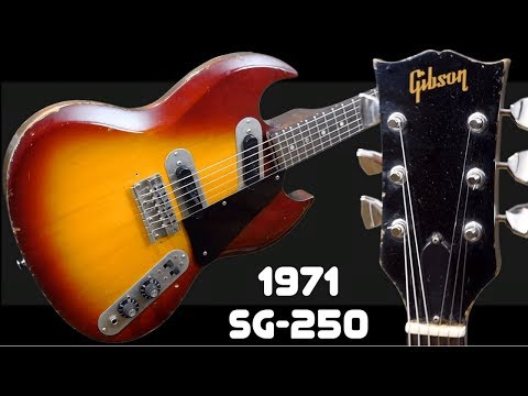 The Freaky, Fat And Flat SG | 1971 Gibson SG 250 Cherry Sunburst | Review + Demo
