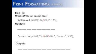 Print Formatting: printf() Flag - Part 5 (JAVA)