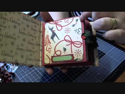 Vintage Christmas Mini Book