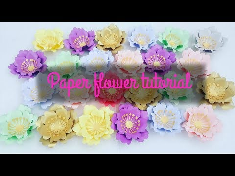 Paper flower tutorial by SaCrafters