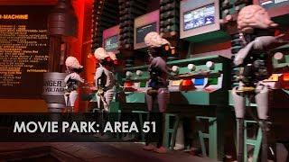 Movie Park Germany: water-darkride Area 51 - Top Secret (2019)