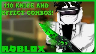 OVER 110 KNIFE AND EFFECT COMBOS IN ROBLOX ASSASSIN