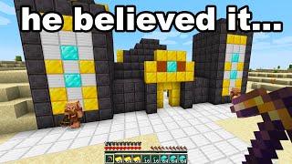 Fooling My School Friend With A FUNNY Fake Minecraft Speedrun...