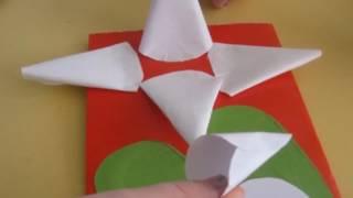 объемные поделки  Кувшинка из бумаги