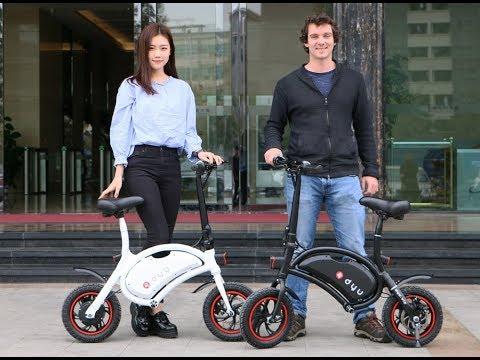 DYU Folding Wireless Smart Electric Bicycle Bike Portable Scooter E-Bike Fast Charging App