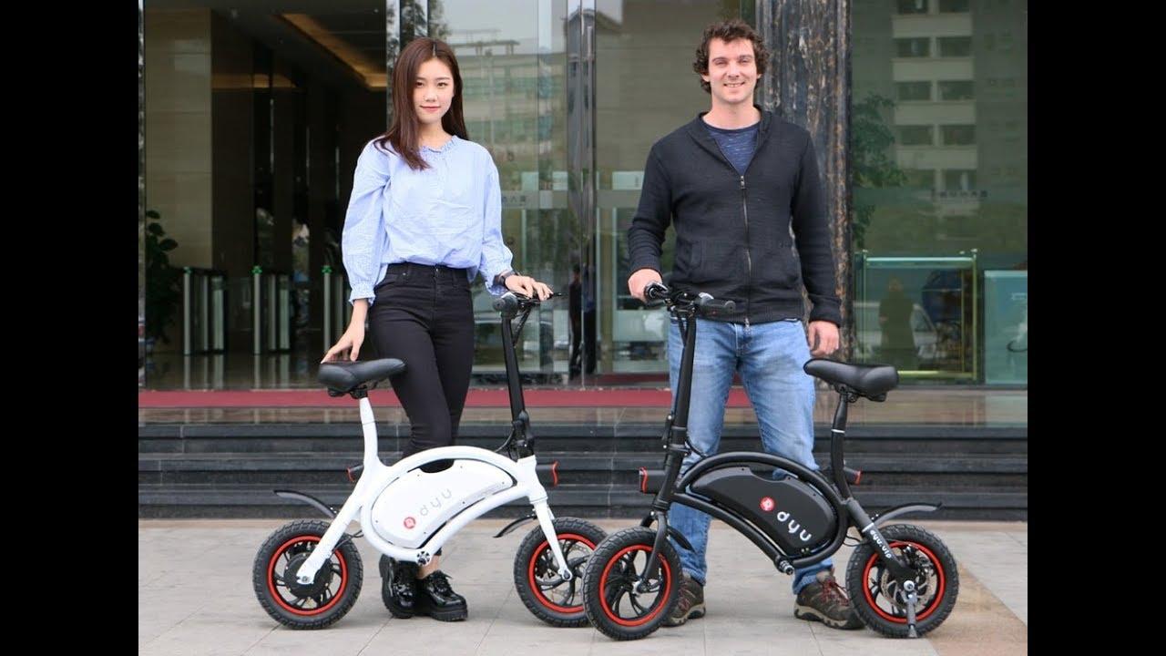 Electric Scooter Bike >> DYU Folding Wireless Smart Electric Bicycle Bike Portable Scooter E-Bike Fast Charging App - YouTube