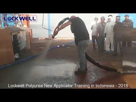 Lockwell Polyurea Application Training to New Applicator in