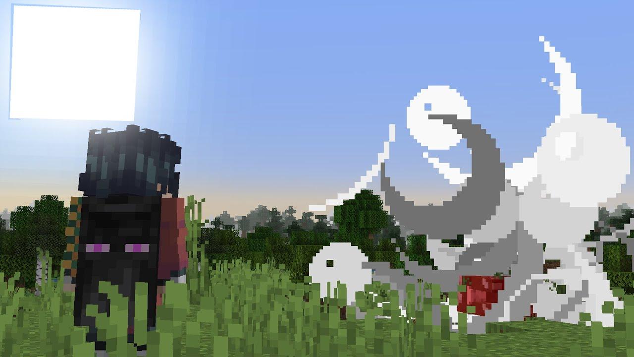 Minecraft, mas quando eu olho pros mobs eles EXPLODEM