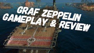 Graf Zeppelin Gameplay Review World of Warships Blitz