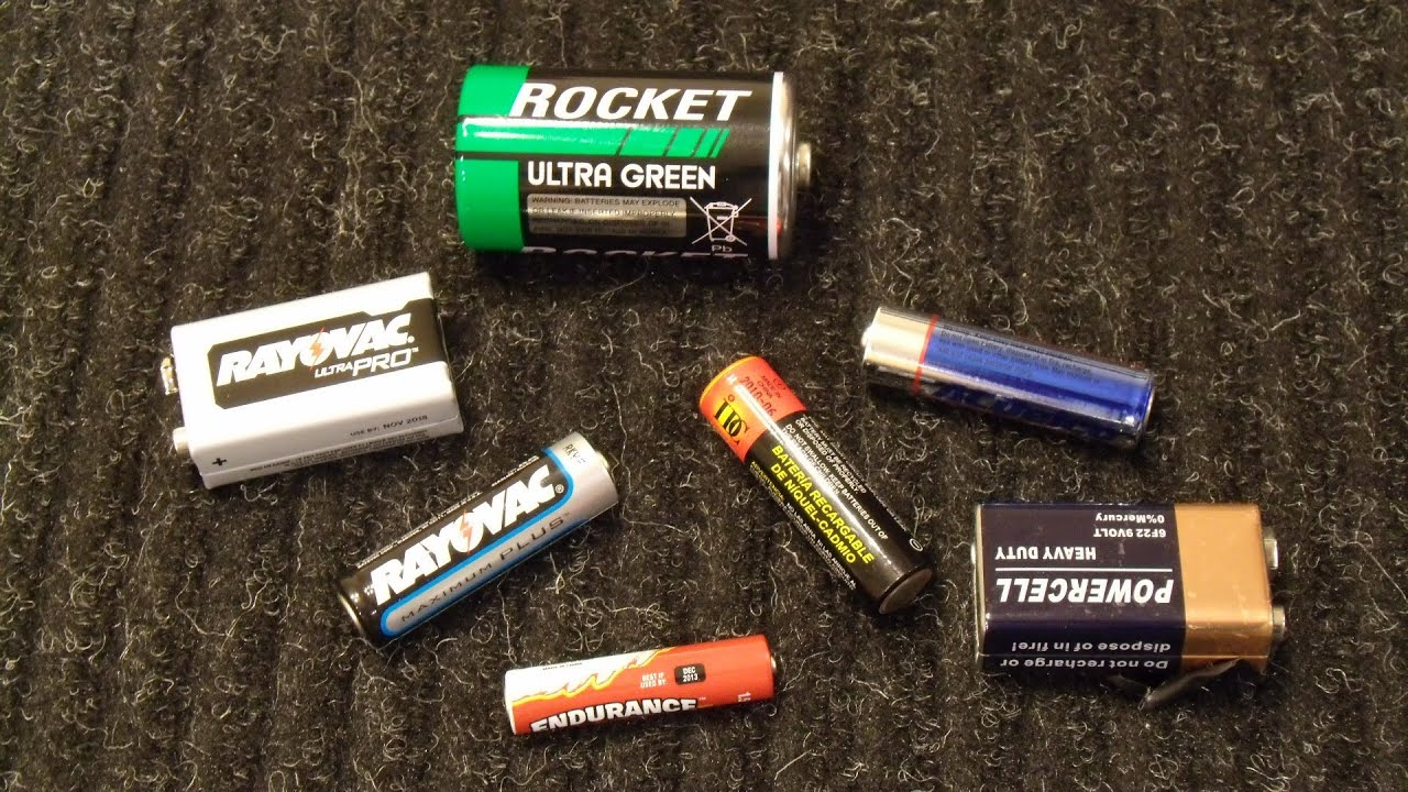 How To Test Standard Aa Aaa D C And 9v Batteries With A Multimeter Youtube
