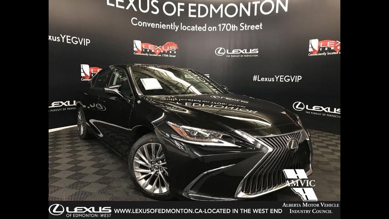 black 2019 lexus es 350 ultra luxury package review edmonton alberta