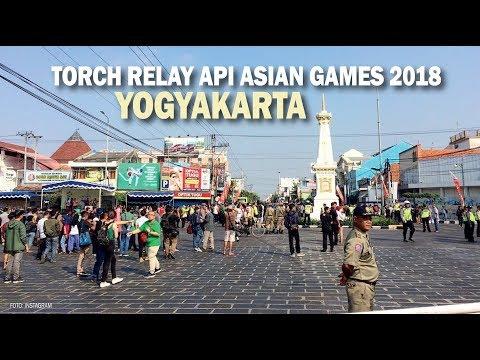 Warga Yogyakarta Antusias Sambut Arak-arakan Obor Asian Games 2018