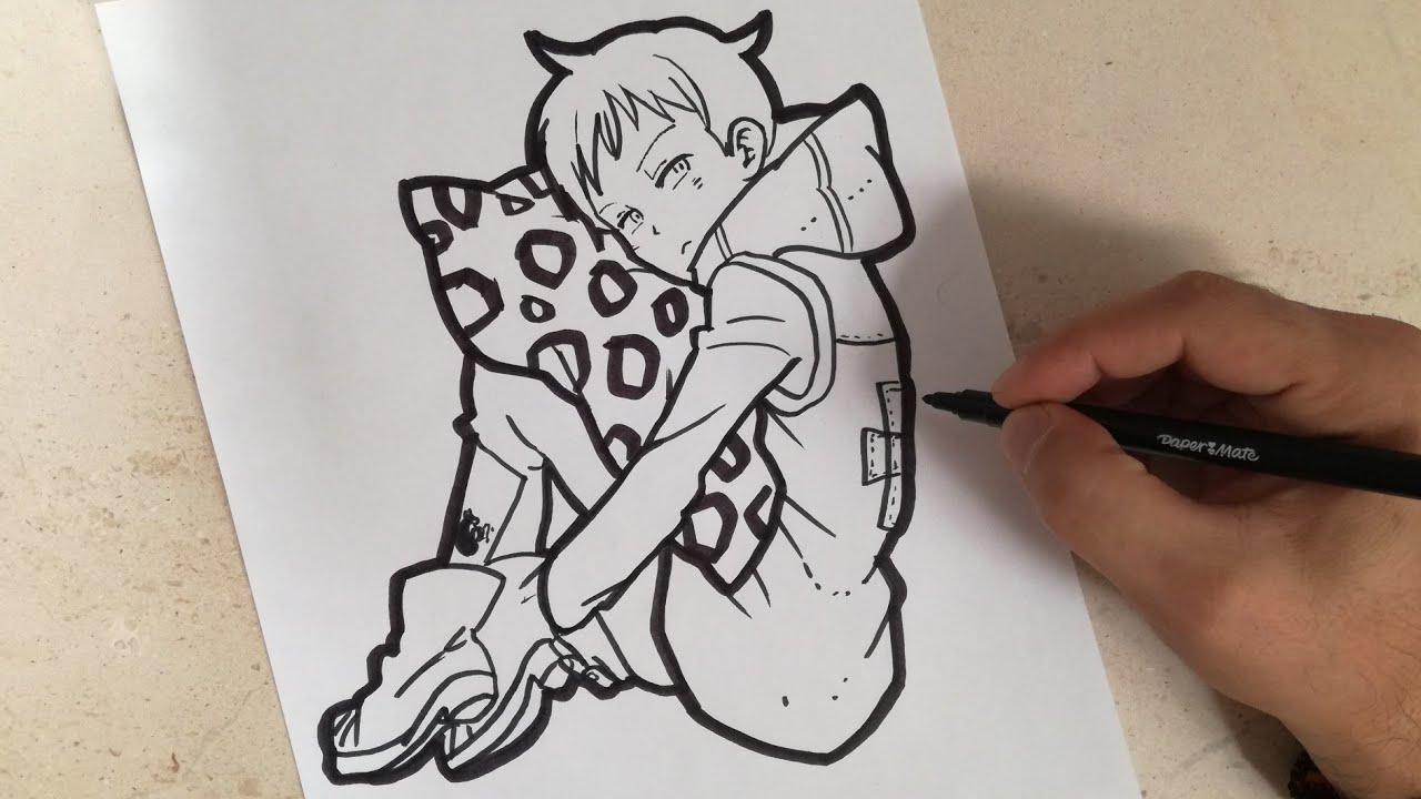 Como Dibujar A King Nanatsu No Taizai How To Draw King