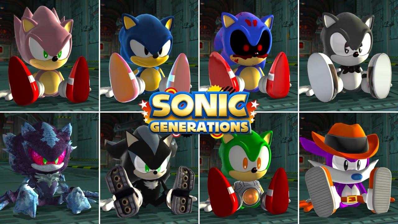 Sonic Generations: Choose Your Favorite Classic Design 2 (Designs Compilation)