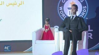 worlds tallest man meets shortest woman in cairo