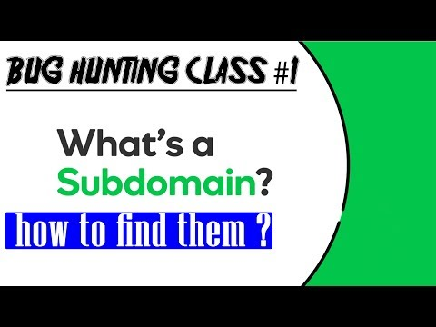 Bug Hunting Class #1 | How To Find Sub Domains Of A Website For Testing For Vulnerability 🔥