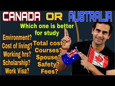 Canada Or Australia, Which One Should You Choose For Study Abroad/Hindi