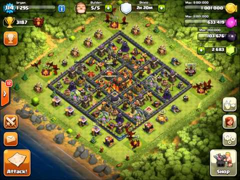 Clash Of Clans - Clan Castle Level 6 + Clan Wars!