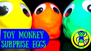 Play Doh MONSTERS Surprise Eggs  | Opening PLAY-DOH Kinder Surprise Eggs Toys Fun Video For Kids