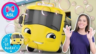 Buster And The Carwash | Sign Language For Kids | Baby Songs | Little Baby Bum | ASL thumbnail