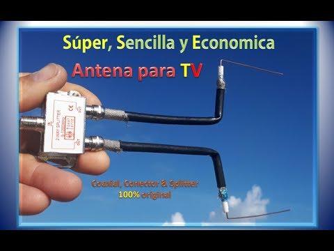 Super, Sencilla Y Economica ✅ Antena Para TV▶️ Coaxial, Conector & Splitter💯% Original