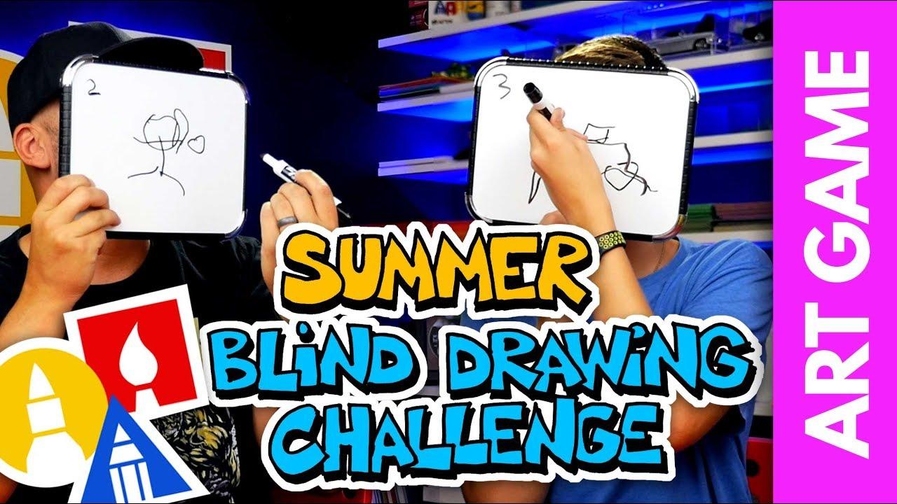 ART GAME: Summer Blind Drawing Challenge!