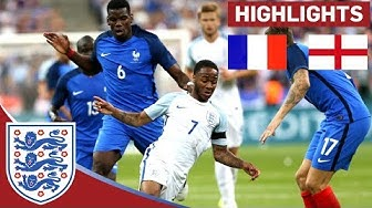 England Struggle to Keep out 10-Man France in Paris   France 3 - 2 England   Official Highlights