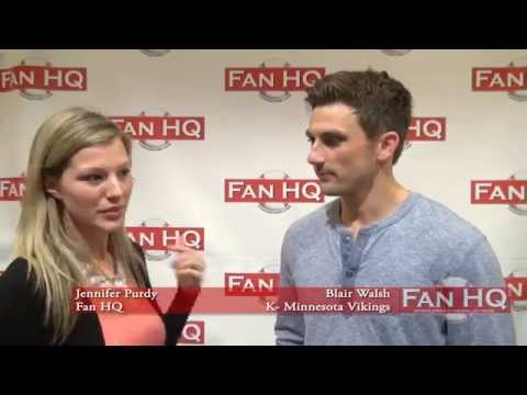 Exclusive Blair Walsh Interview and Autograph Session with Fan HQ