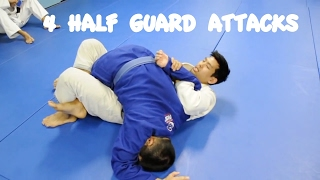 4 HALF GUARD ATTACKS: Triangle, Kimura, Ezekiel and Baseball Bat Choke