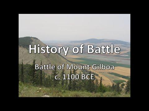 History of Battle - The Battle of Mount Gilboa (c. 1100 BCE)