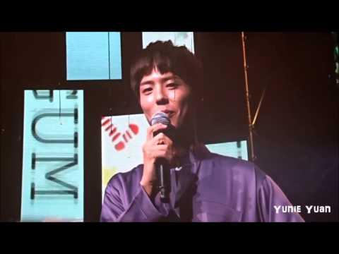"161210 Park Bogum says ""Sayang, aku cinta padamu"" - Oh, Happy Day Malaysia Fan Meeting"