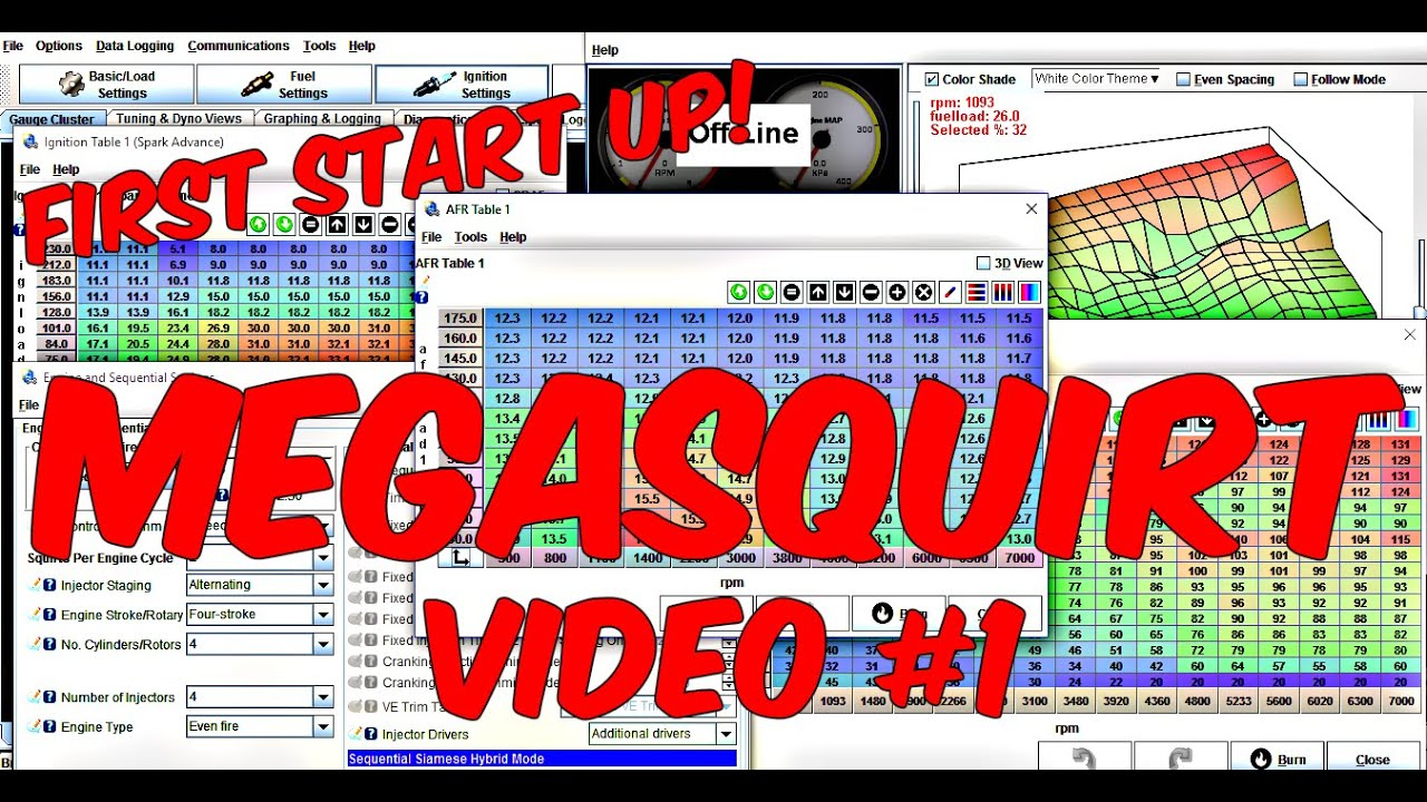 First Start Up On Megasquirt! (Tuning Video #1)