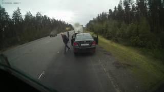 Смертельное ДТП на  трассе СПб-Выборг 26 июня 2017