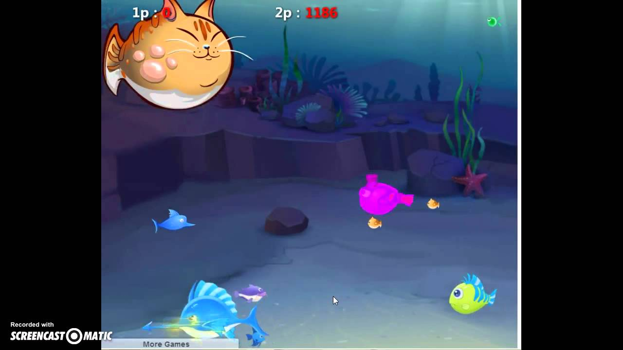 Fish eat fish 3 player game youtube for Fish that eat other fish