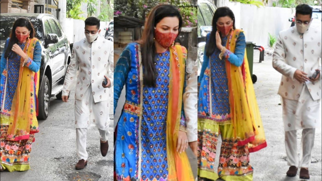 Gauahar Khan & Zaid Darbar spotted outside their Recidency in Andheri 📸
