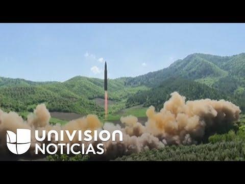 En video: Así fue el lanzamiento del misil intercontinental de Corea del Norte