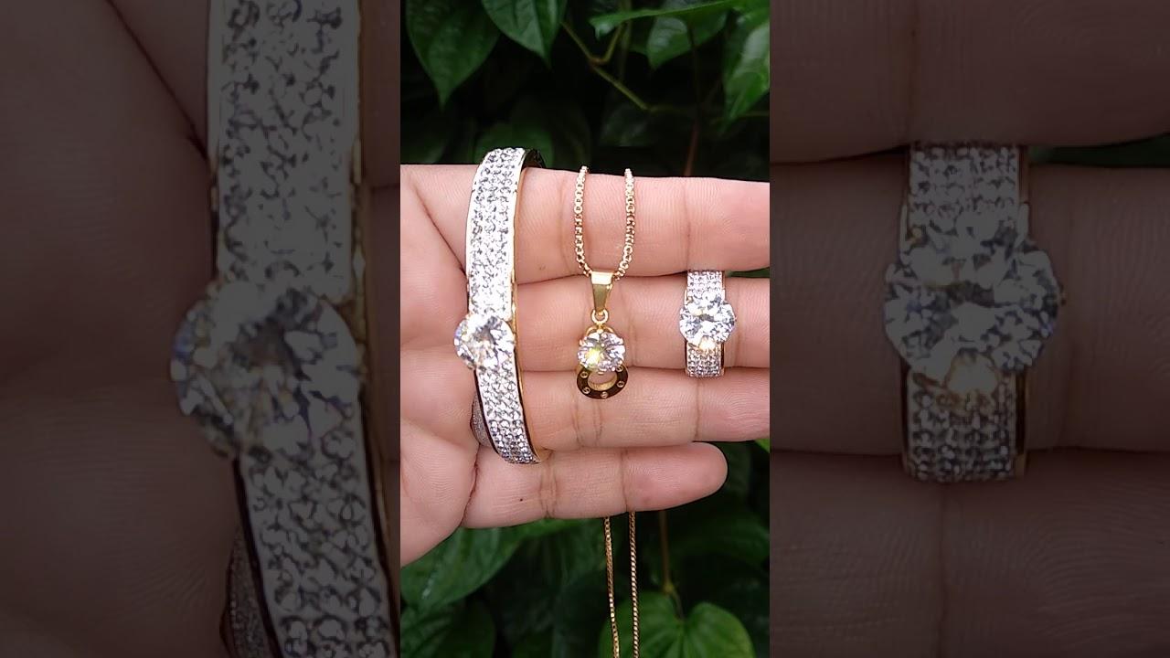 Set Perhiasan Titanium - YouTube