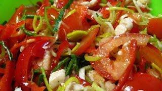 Салат с луком порей  Пошаговый рецепт с фото