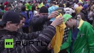 Разгромное поражение сборной Бразилии на ЧМ по футболу привело к погромам в стране