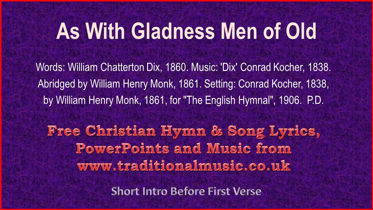 As With Gladness Men Of Old(MP39) - Christmas Carols Lyrics & Music ...