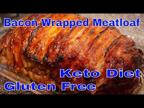 Keto Recipe Bacon Wrapped BBQ Meatloaf | Gluten Free | Keto Diet
