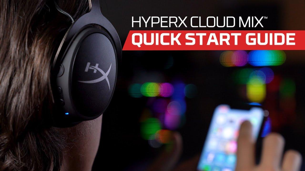 Hyperx Cloud Mix Quick Start Guide Youtube
