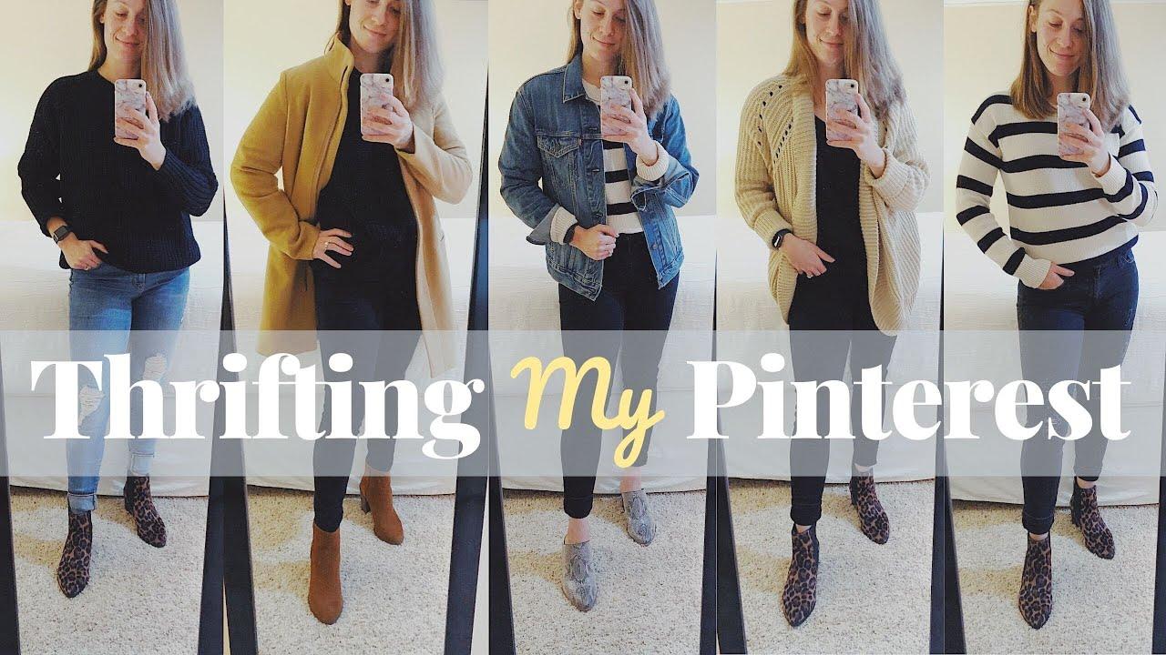 [VIDEO] - THRIFTING MY PINTEREST   Fall & Winter Wardrobe   Kathryn Mary 7