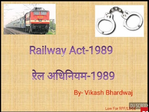 Indian Railway Act Pdf